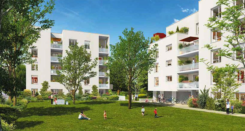 Programme immobilier Vaulx-en-Velin (69120) Carré de Soie Sud COG7