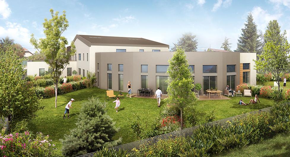 Programme immobilier Fontaines-sur-Saône (69270) 20 Minutes centre de Lyon AJA1