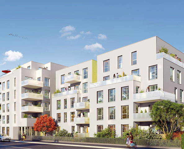 Programme immobilier Villeurbanne (69100) Gratte Ciel KAB8