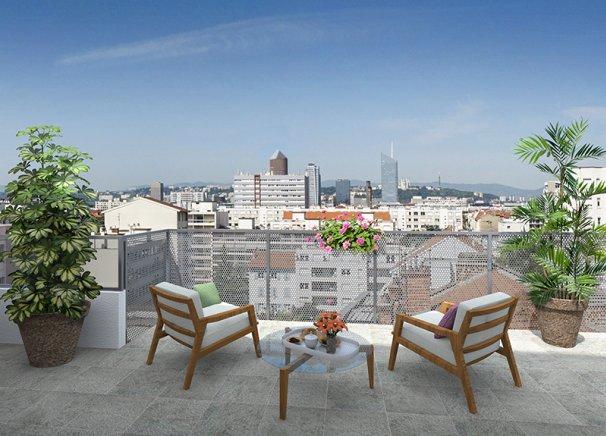 Programme immobilier Villeurbanne (69100) GRATTE CIEL ICA6