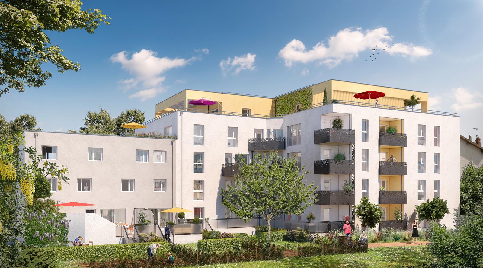 Programme immobilier Villeurbanne (69100) CALME ET RESIDENTIEL NP12