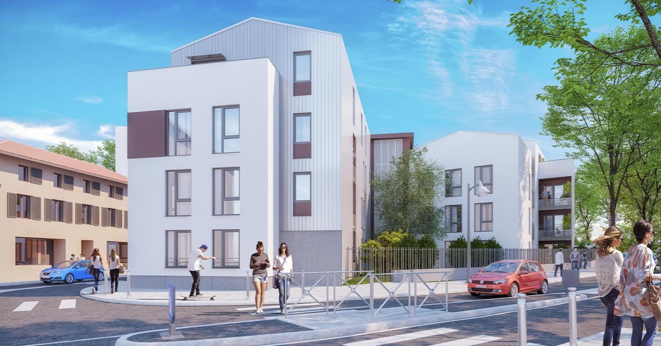 Programme immobilier AJA10 appartement à Vénissieux (69200) Quartier à l'Esprit Village
