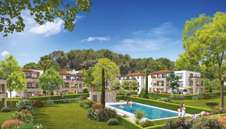 Programme immobilier ALT70 appartement à Ventabren (13122) Parc arboré avec piscine privée