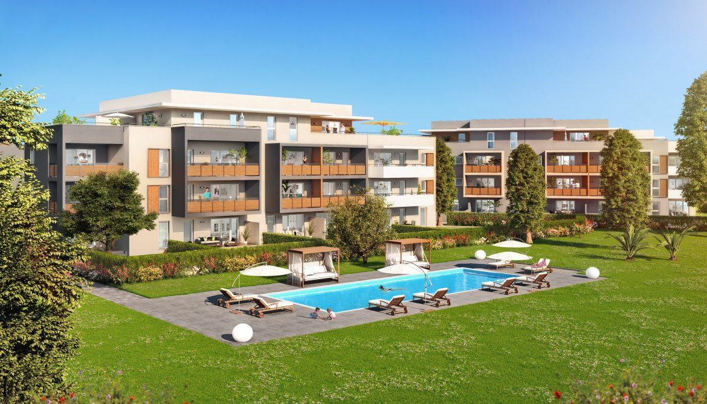 Programme immobilier Frejus (83600) Résidence Contemporaine avec Piscine Privée ALT56