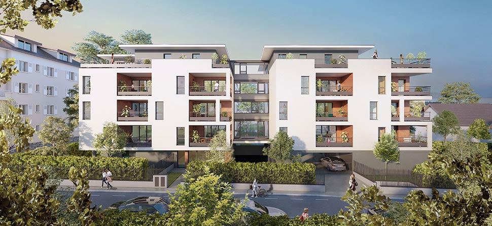 Programme immobilier Thonon les Bains (74200) Aux Portes du Quartier Prisé de Concise ICA13