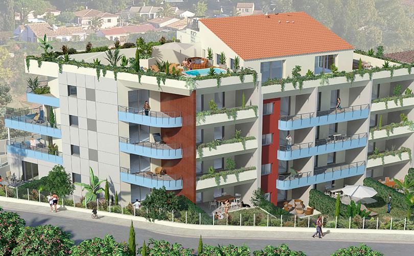 Programme immobilier Bormes Les Mimosas (83230) Plein Coeur du Quartier de la Favière PI21
