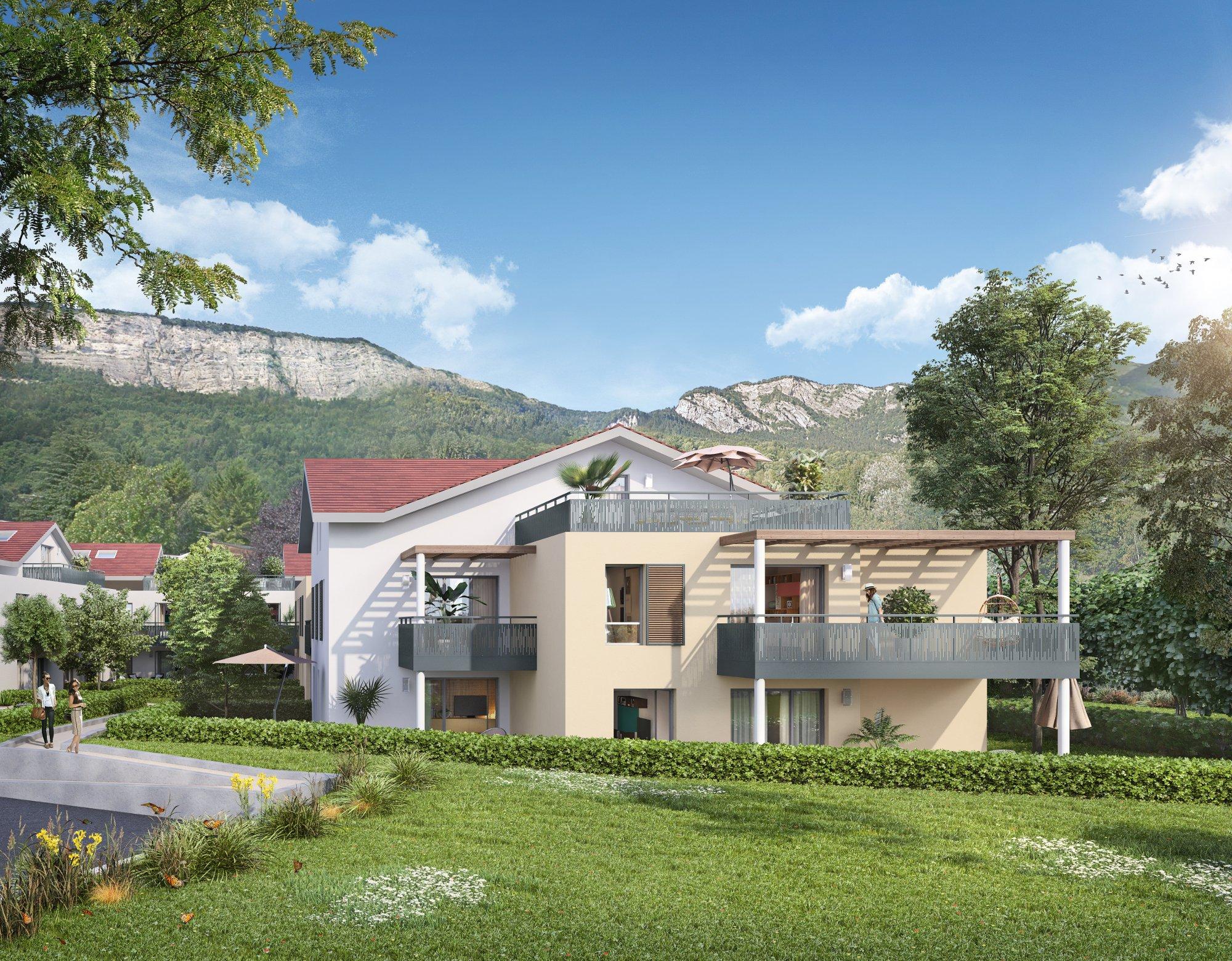 Programme immobilier Bonneville (74130) Résidence nichée dans un environnement verdoyant, CRA9