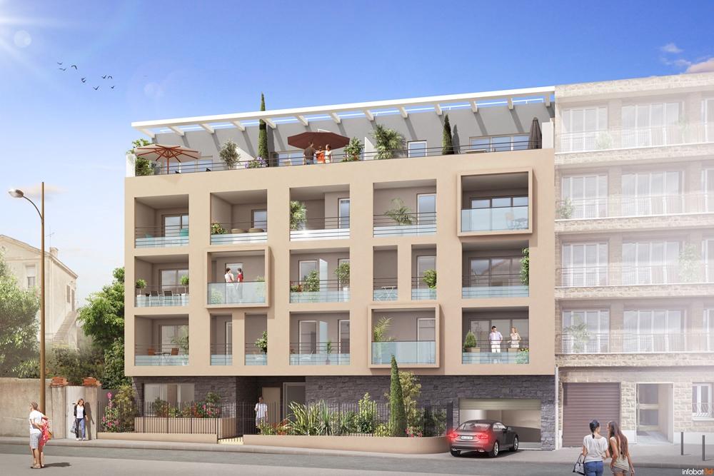 Programme immobilier EDE3 appartement à Marseille 8ème (13008) Située dans le vivant 8ème arrondissement