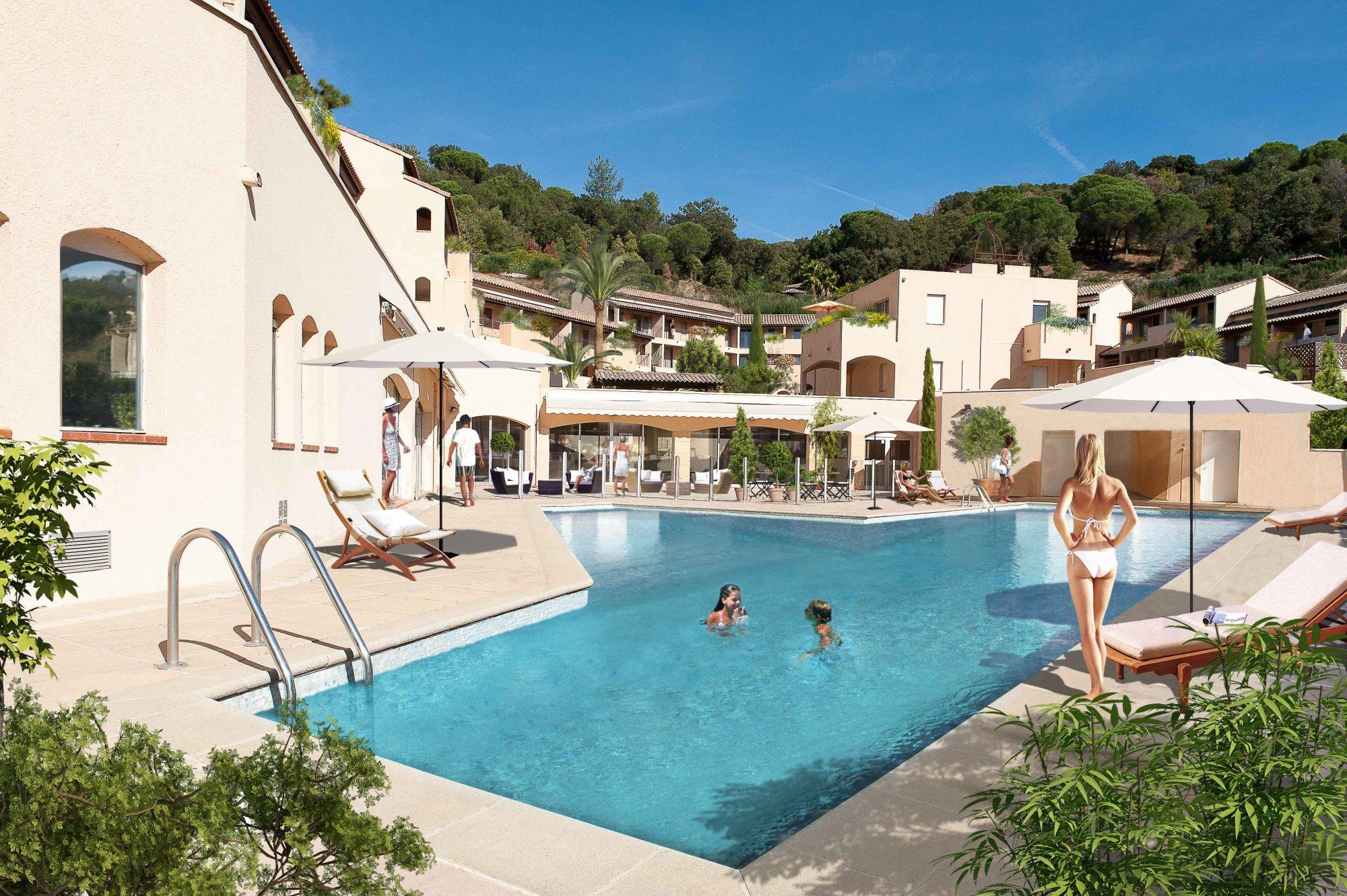 Programme immobilier EDO9 appartement à La Croix Valmer (83420) Résidence nichée dans les collines