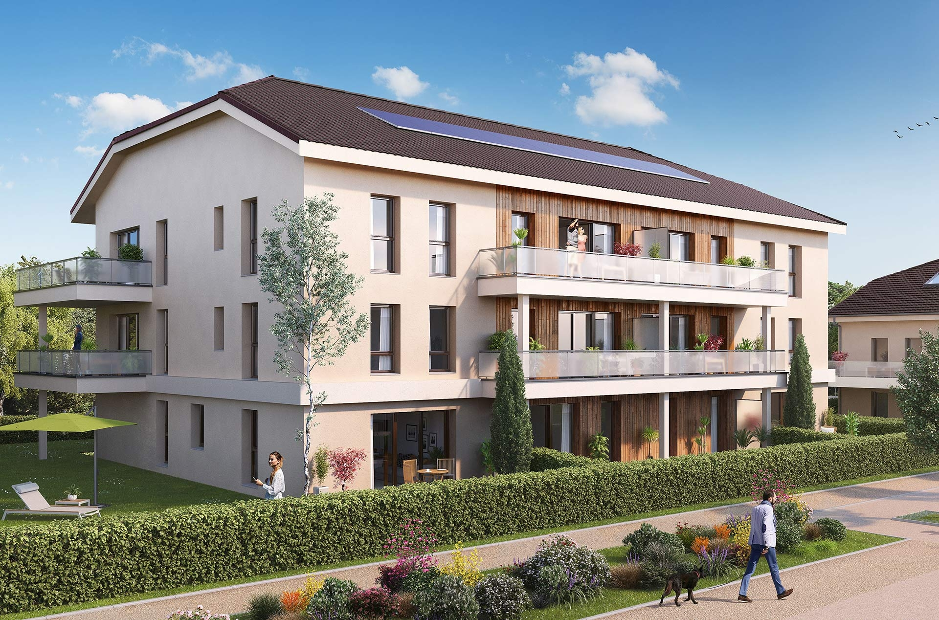 Programme immobilier EUR7 appartement à Crozet (01170) Au cœur d'un écrin de verdure