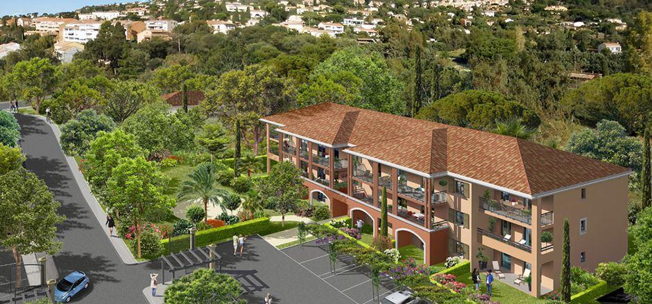 Programme immobilier PI21 appartement à Bormes Les Mimosas (83230) Un cadre verdoyant