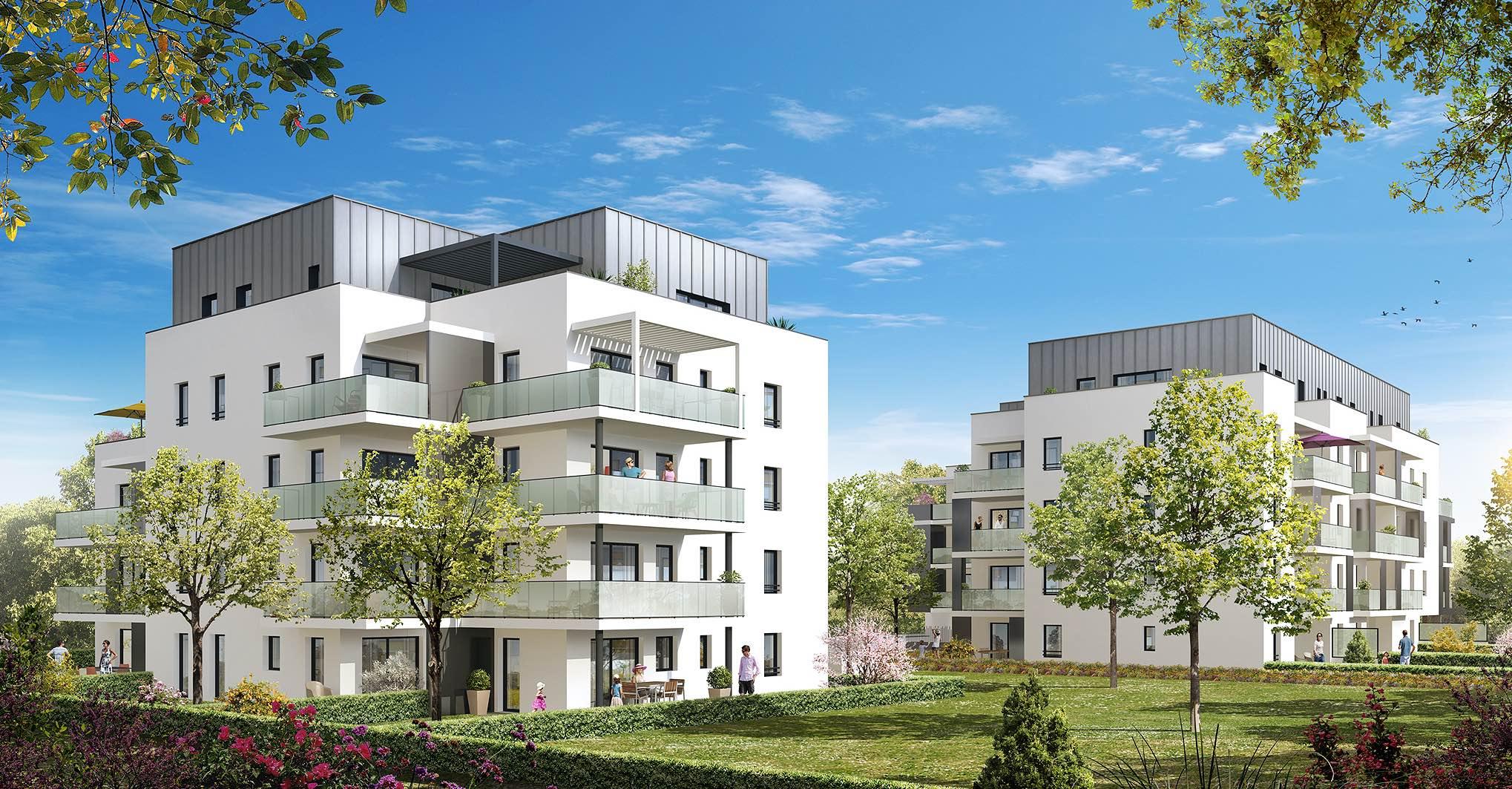 Programme immobilier St Julien En Genevois (74160) Quartier vert et fleuri VAL69