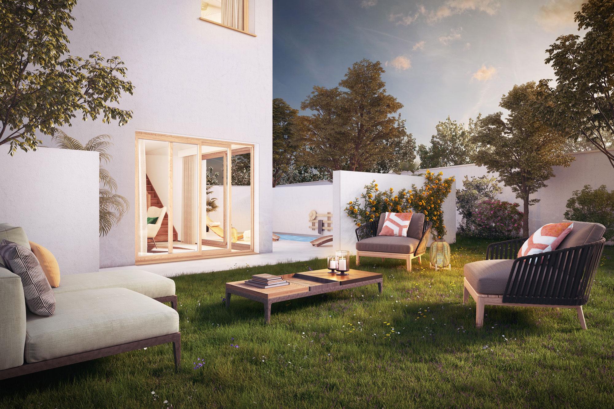 Programme immobilier ALT78 appartement à Carro (13500) quartier résidentiel au bord de mer