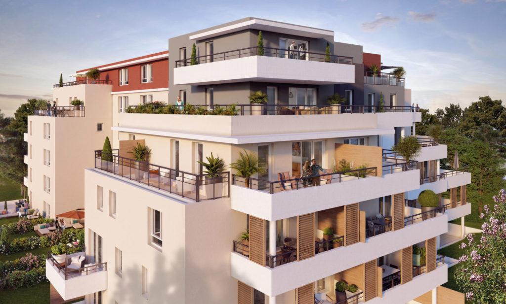 Programme immobilier Marseille 10ème (13010) Résidence privée avec parc boisé classé CRA12