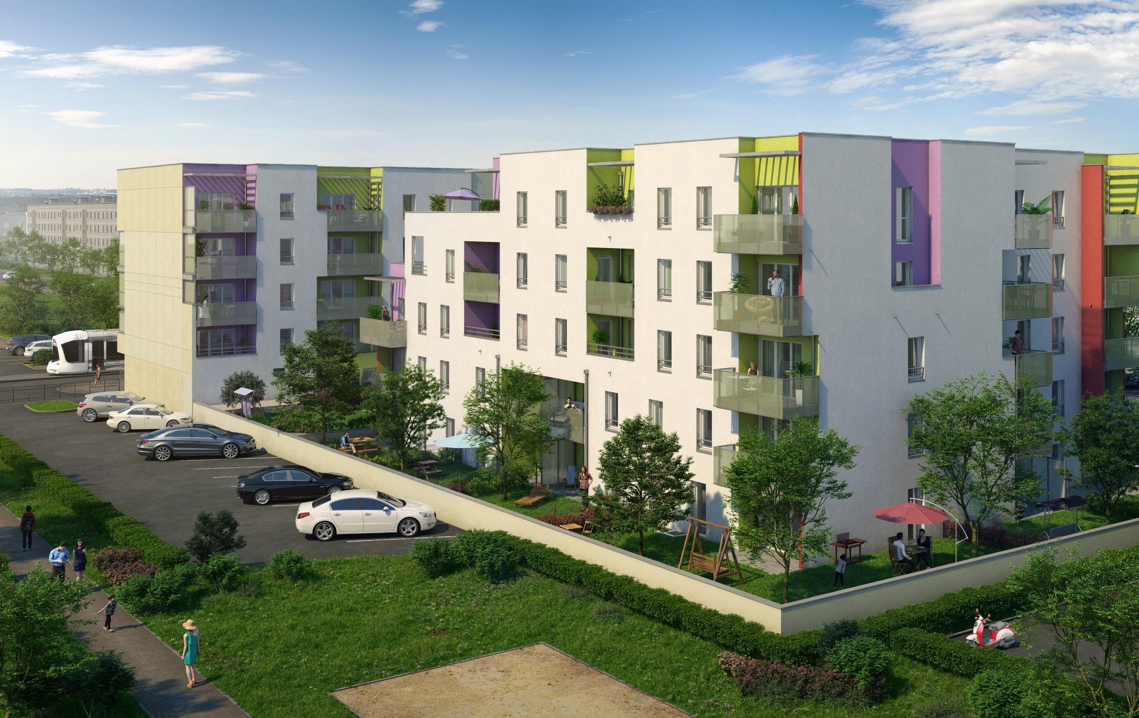 Programme immobilier Vénissieux (69200) Un environnement très végétalisé AJA10