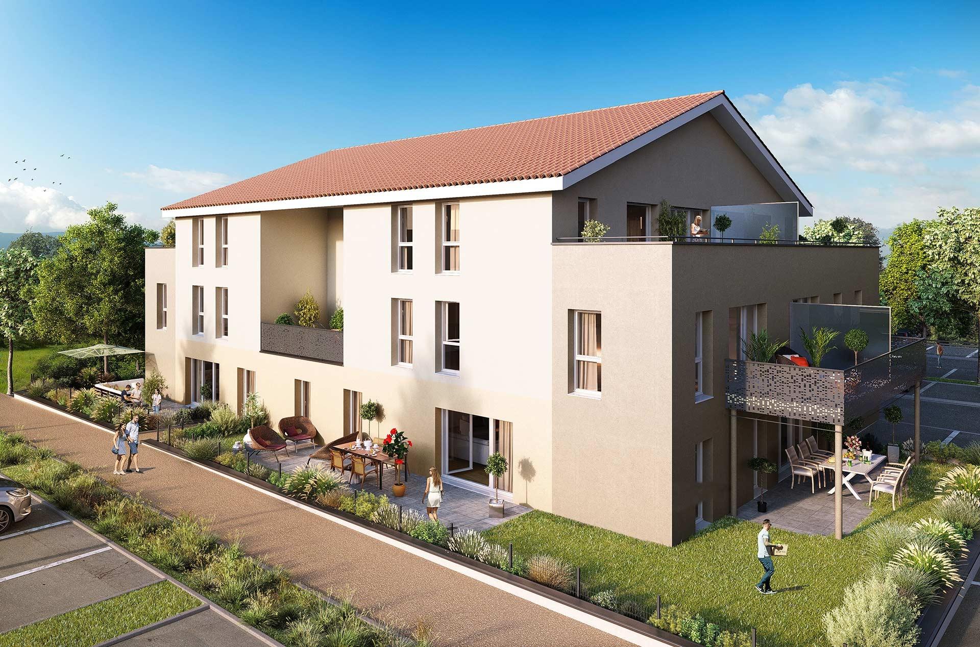 Programme immobilier EUR18 appartement à Chasse-sur-rhone (38670) Quartier calme et apaisant