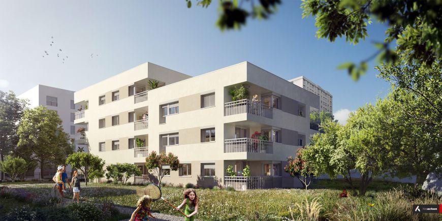 Programme immobilier Bron (69500) Quartier nature et urbain en plein cœur de la métropole NP13
