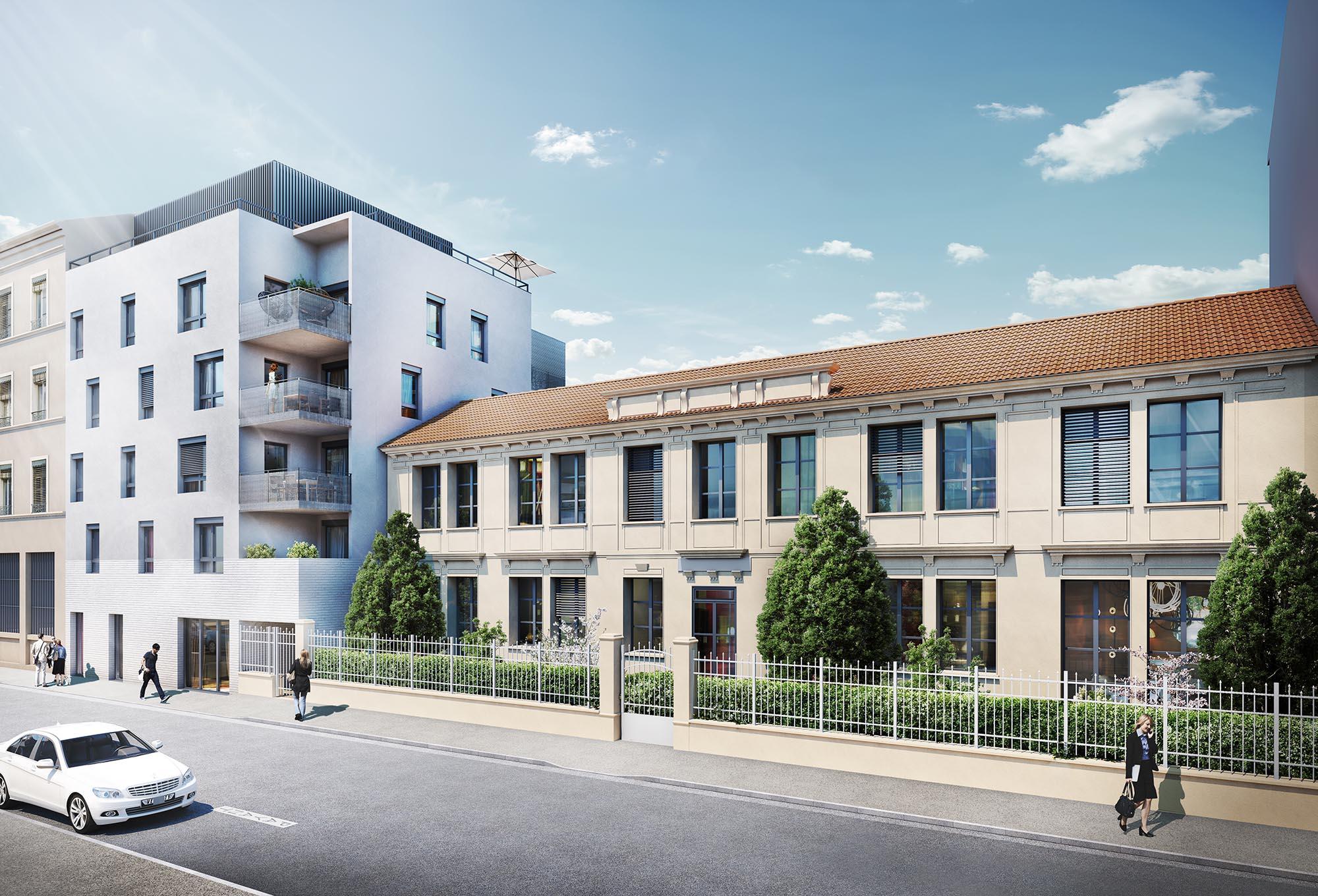 Programme immobilier Villeurbanne (69100) Environnement résidentiel GL1
