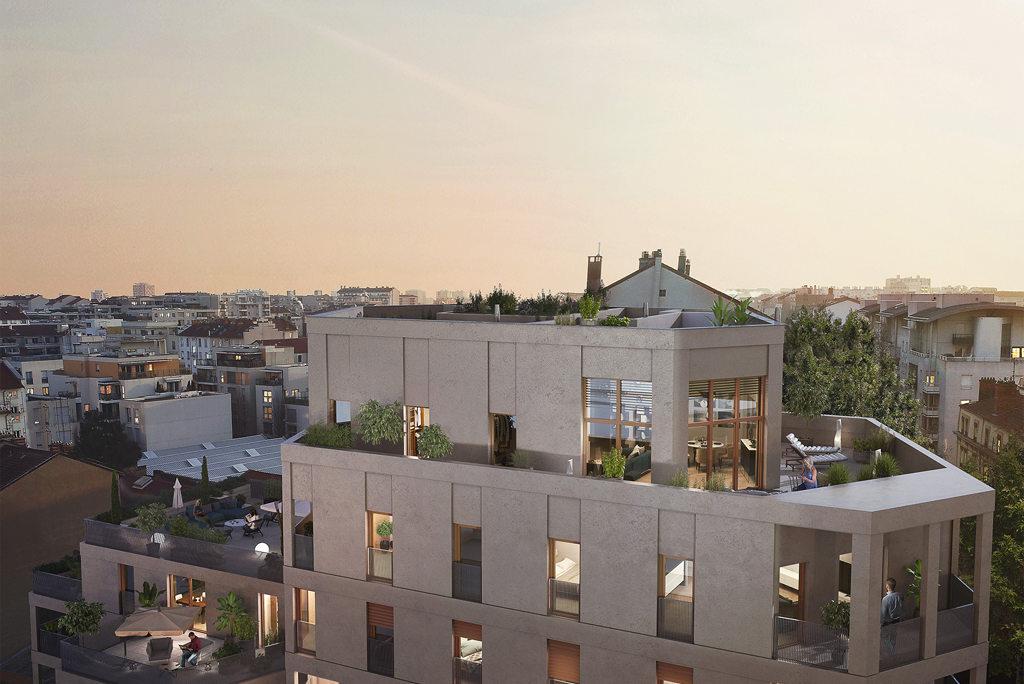 Programme immobilier Lyon 3ème (69003) Quartier dynamique de Lacassagne NEO16