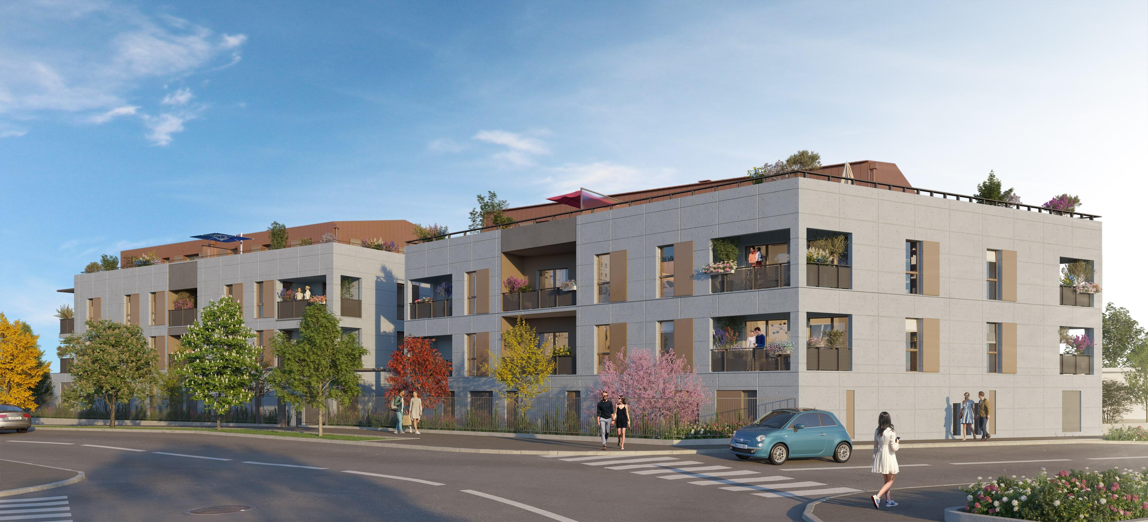 Programme immobilier Neuville-sur-Saône (69250) Entourée d'espaces végétaux AJA12