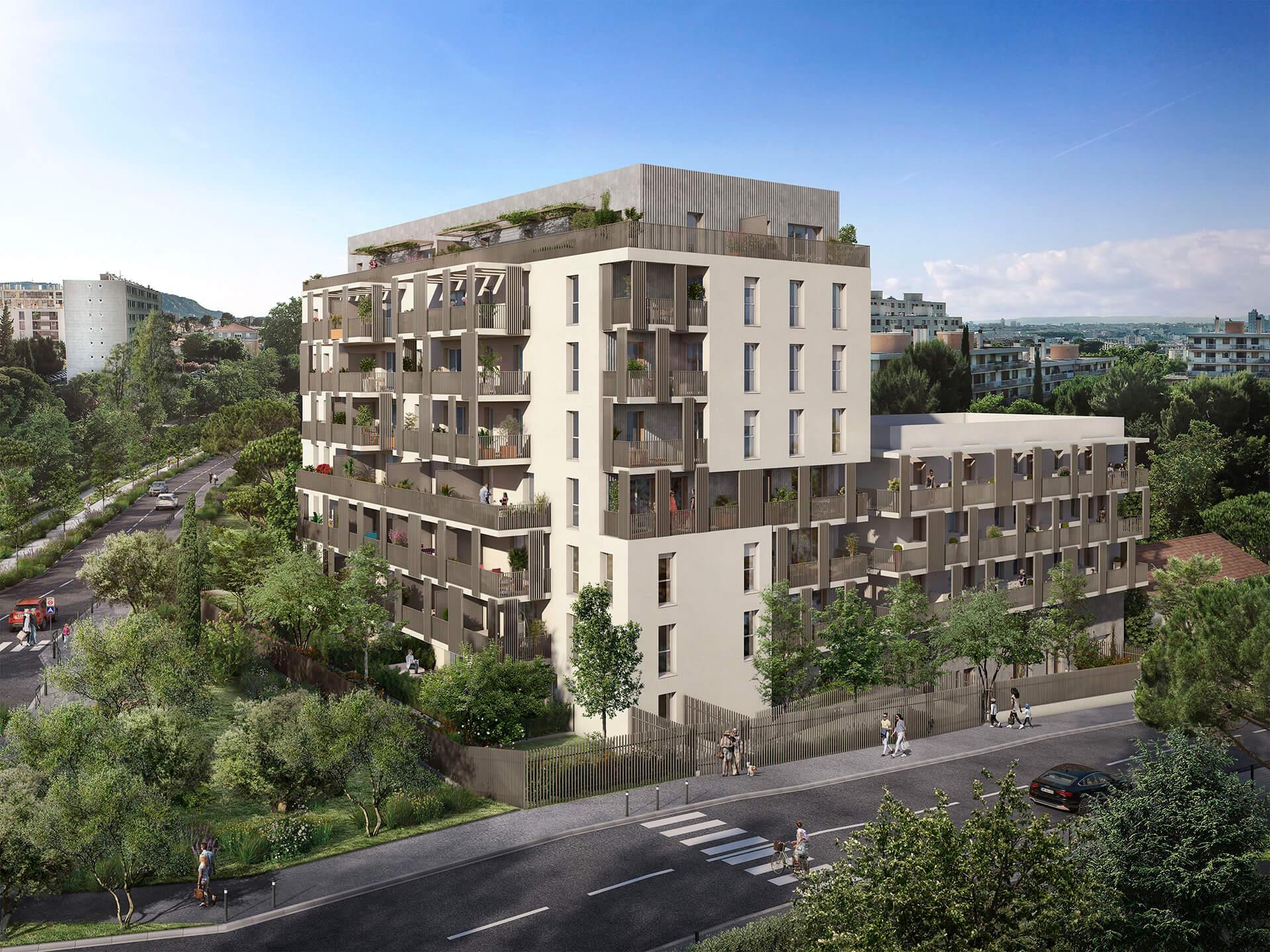 Programme immobilier Marseille 10ème (13010) À mi-chemin des quartiers Saint-Tronc et Saint-Loup QUA2