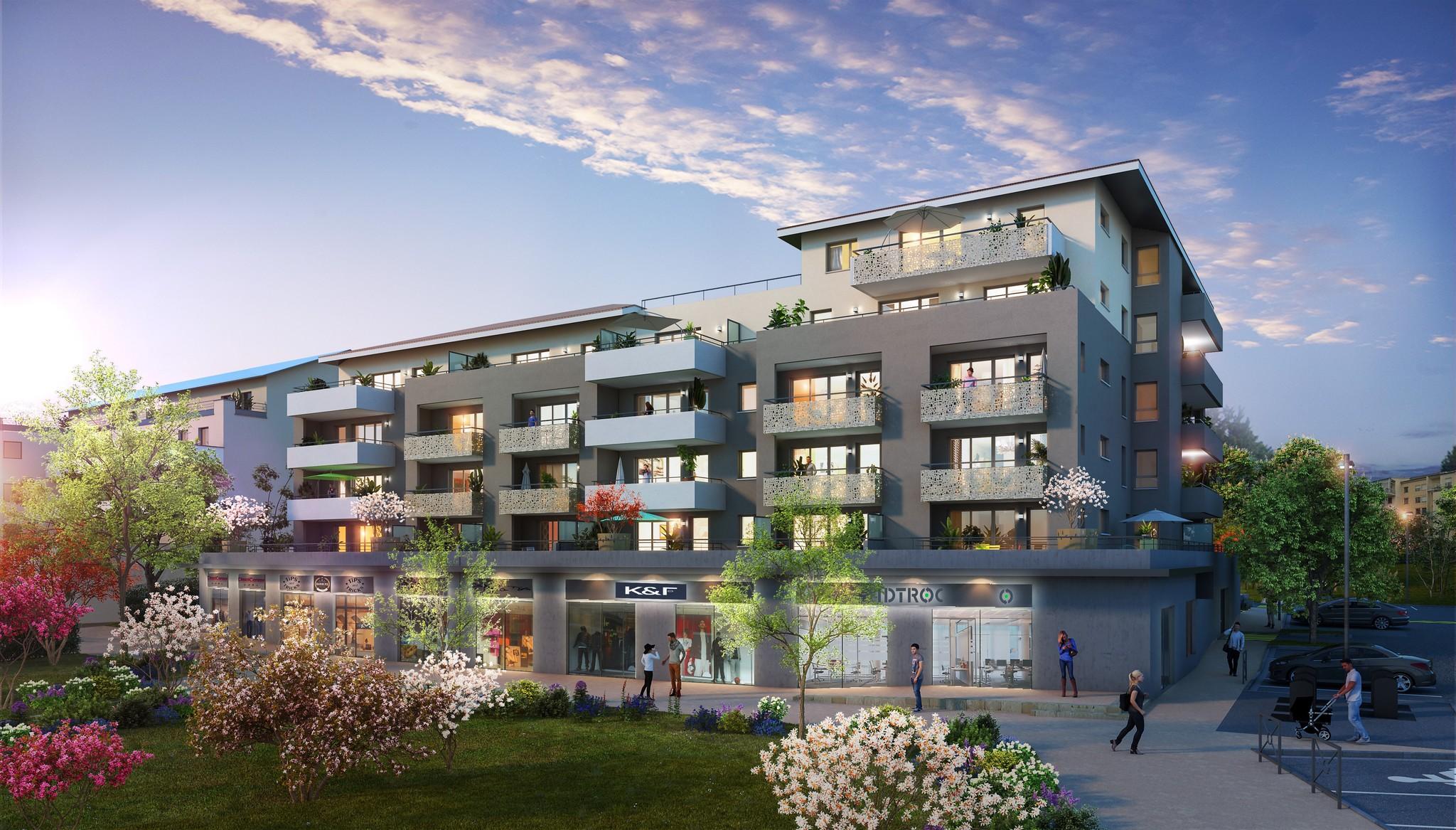 Programme immobilier VAL129 appartement à Moirans (38430) Superbe vue sur le parc aménagé