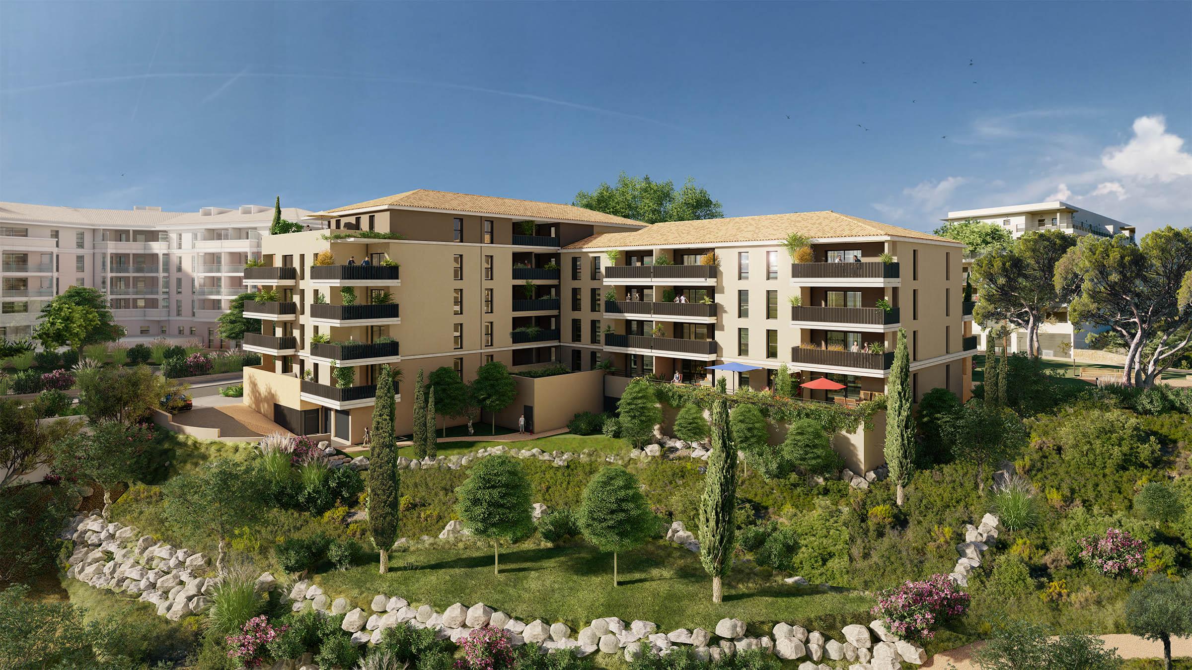 Programme immobilier Aix-En-Provence (13100) En parfaite harmonie avec son environnement QUA1