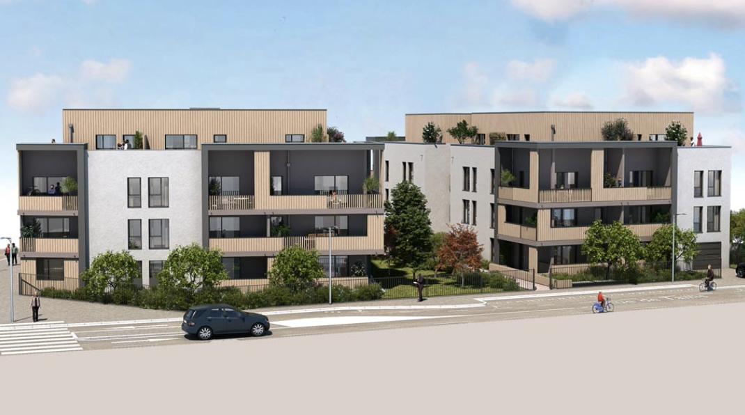 Programme immobilier COR1 appartement à Corbas (69960) Conçue autour d'un ilot paysagé