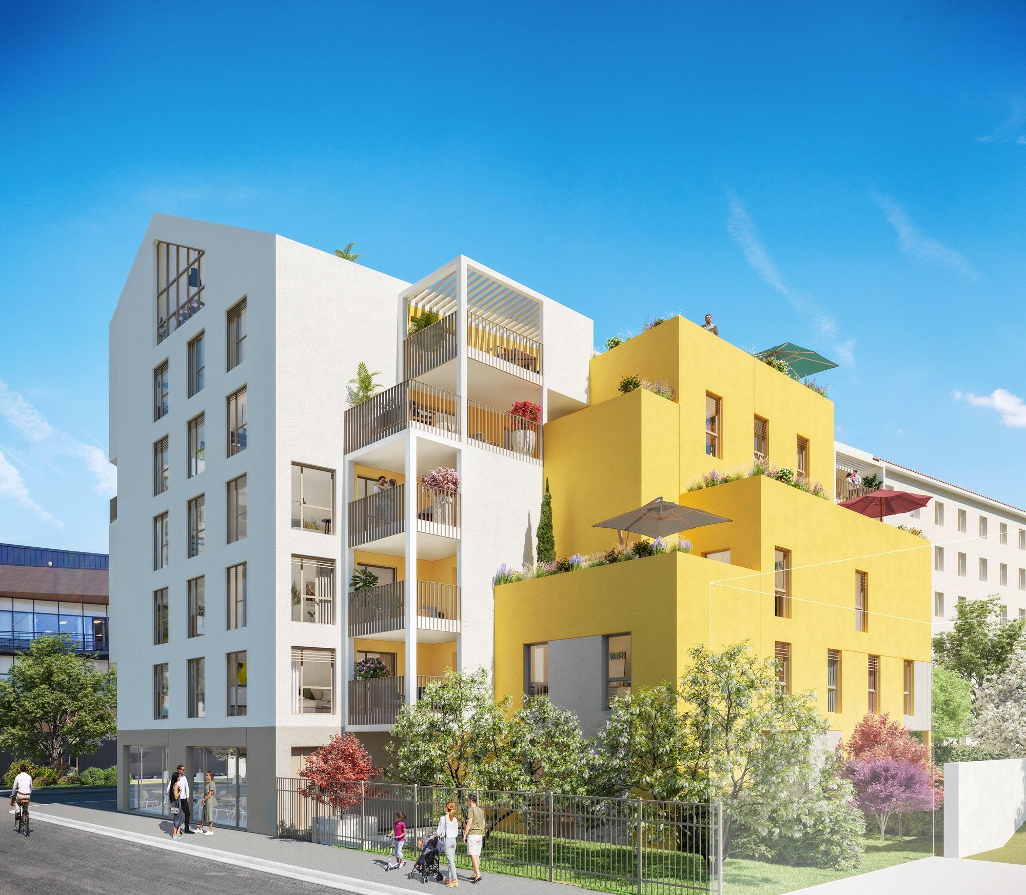 Programme immobilier ALT99 appartement à Villeurbanne (69100) Voisine du renommé Campus de La Doua