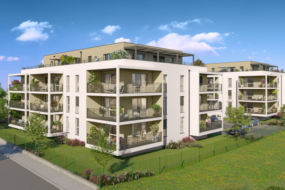 Programme immobilier CAP17 appartement à Publier (74500) Charmant quartier résidentiel