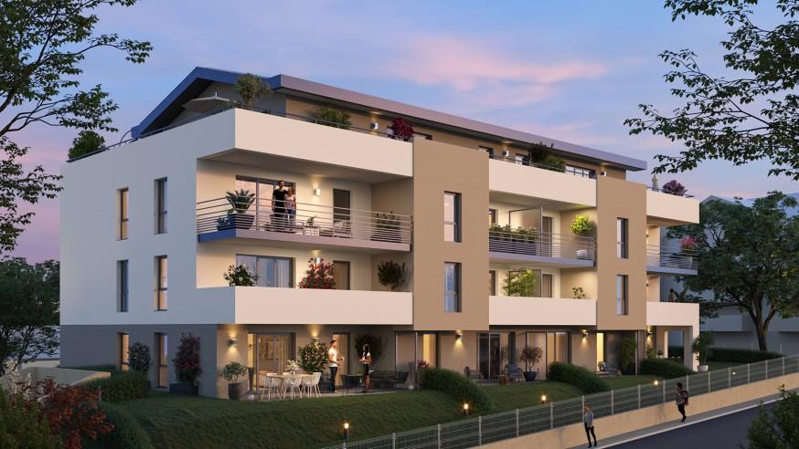 Programme immobilier EQ12 appartement à Vetraz Monthoux (74100) Caractère intimiste