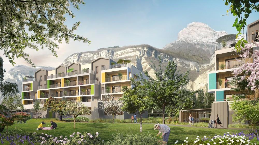 Programme immobilier NEO19 appartement à Crolles (38920) Cadre verdoyant