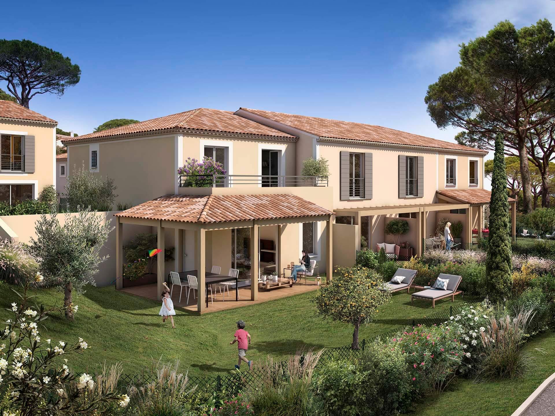 Programme immobilier BOW24 appartement à Sainte Maxime (83120) Quartier résidentiel et calme