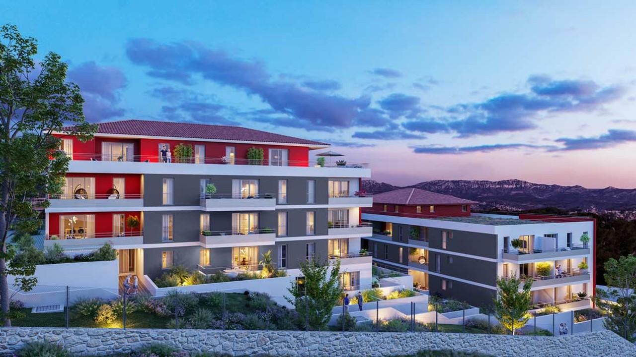 Programme immobilier URB29 appartement à Marseille 12ème (13012) Panorama époustouflant sur les massifs