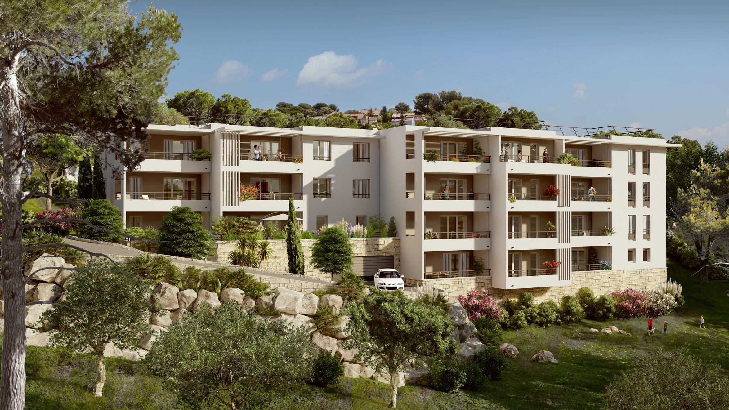 Programme immobilier ALT104 appartement à Marseille 12ème (13012) Quartier des Caillols